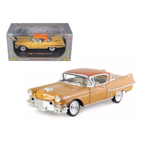 1957 Cadillac Series 62 Coupe De Ville Yellow 1/32 Diecast Car Model by Signature Models 1957 World Series Mini