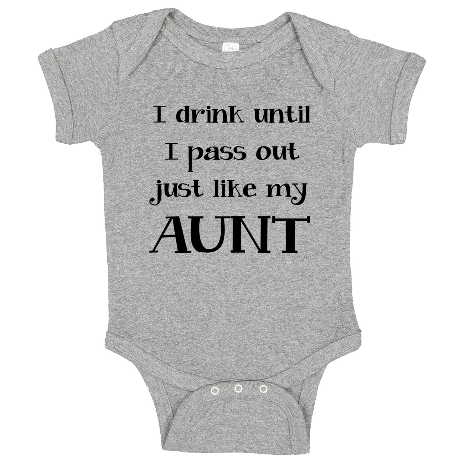 Celebration Onesie\u00ae Onesie\u00ae Reveal Onesie\u00ae I Drink until I Pass Out Like Auntie Onesie\u00ae Cute Baby onesie\u00ae First Onesie\u00ae