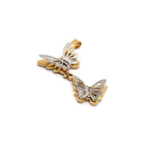 CET Domain SZ14-76347 316L Titanium Steel Butterfly Necklace Pendant