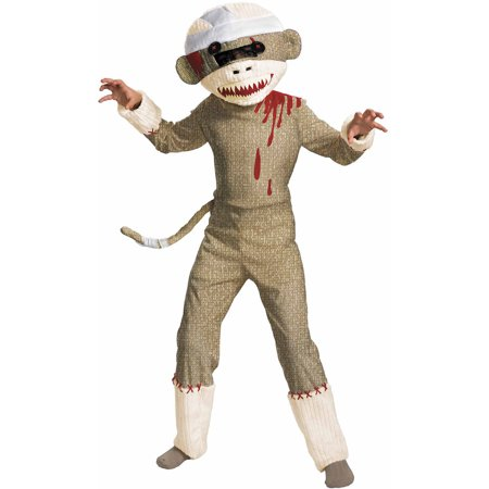 Zombie Sock Monkey Child Halloween Costume - Zombie Farmer Halloween Costume