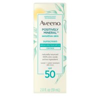 Aveeno Positively Mineral Sunscreen Lotion, SPF 50 Oil-Free, 2 fl oz