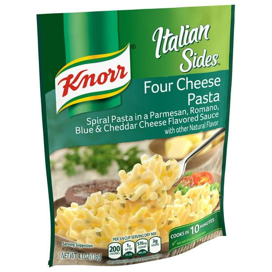 Knorr Four Cheese Pasta Side Dish, 4.1 oz - Walmart.com