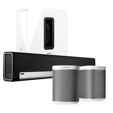 Sonos Playbar Soundbar Play 1 White Pair Wireless Speakers With Sub Kit