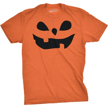 Mens Teardrop Eyes Pumpkin Face Funny Fall Halloween Spooky T shirt