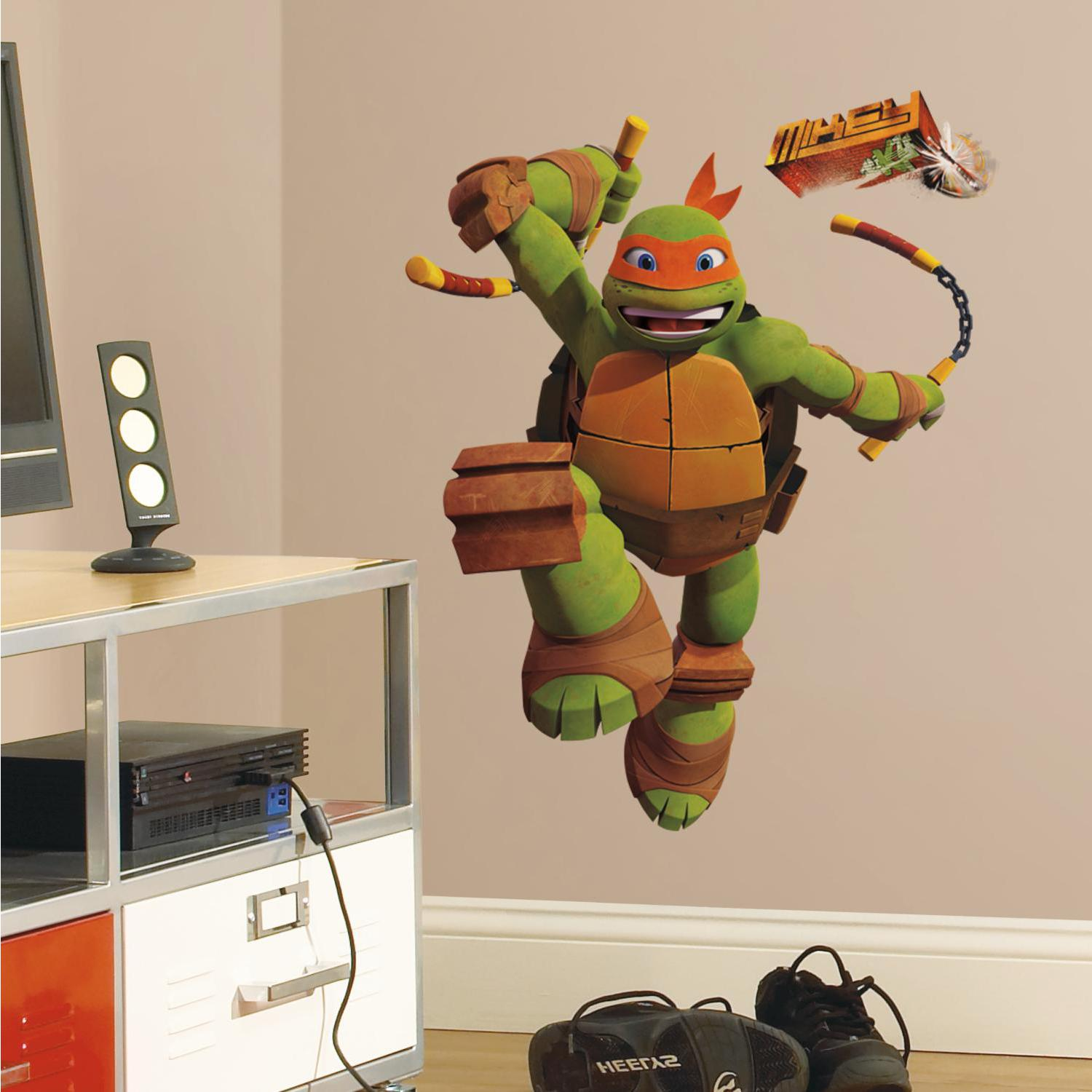 Teenage Mutant Ninja Turtles Michelangelo Giant Wall Decal