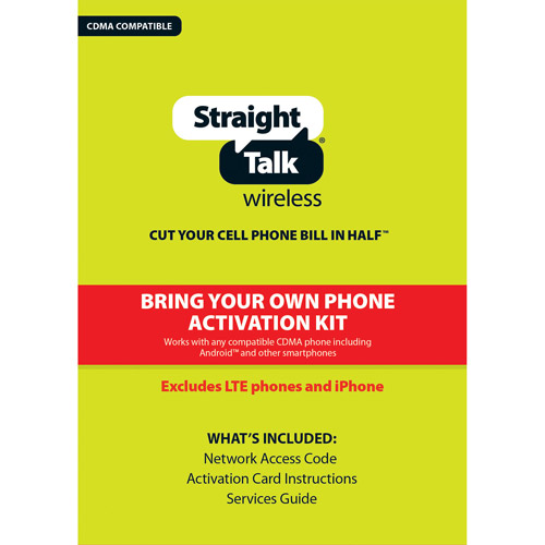 Straight Talk Bring Your Own Phone CDMA Activation Kit