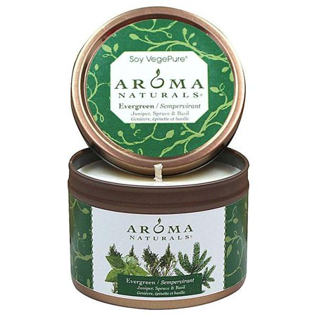 Aroma Naturals Soy VegePure Candles Evergreen (Forest Green) To Go Tins 2 1/2