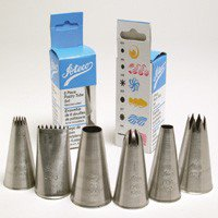 Ateco 6-Piece Pastry Tube and Tips - 6 Piece Pastry Tube