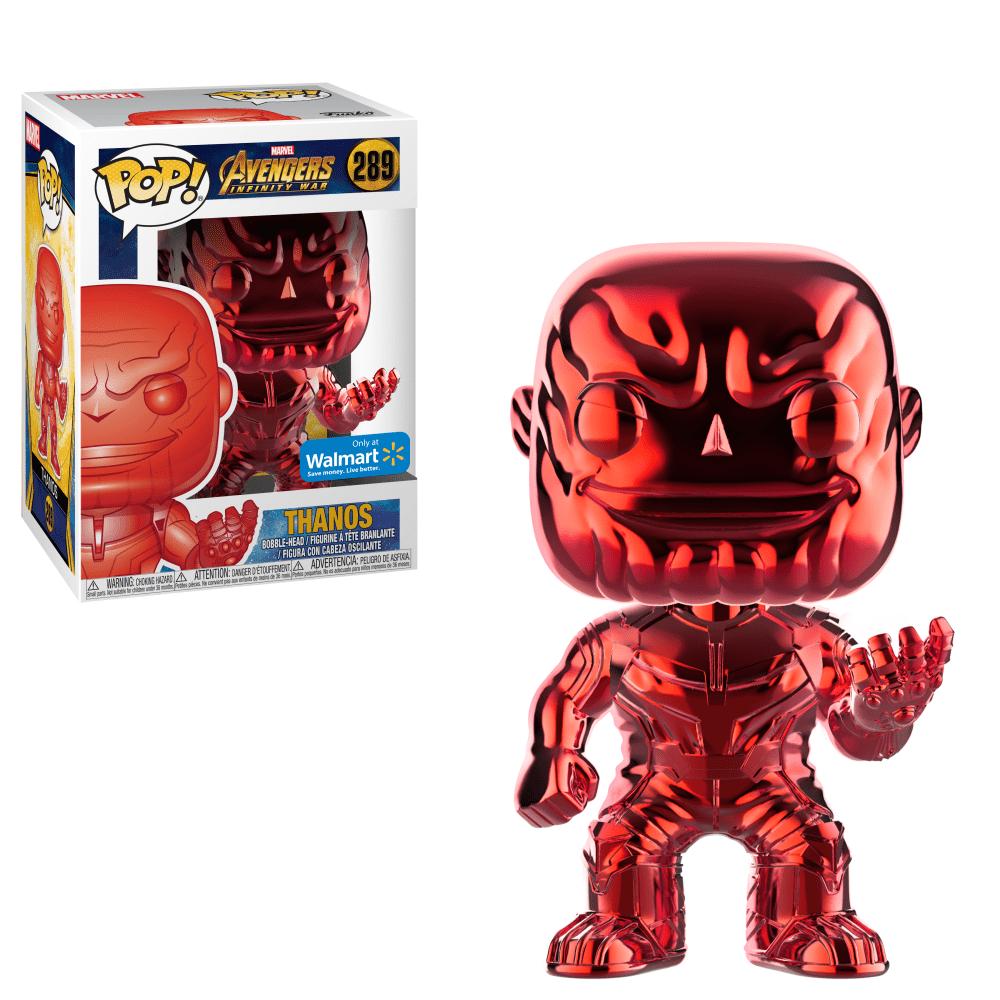 Funko POP Marvel: Infinity War - Thanos - Red Chrome - Walmart Exclusive