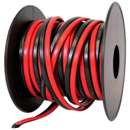 Rockville R14GSBR25 Red/Blk 14 Gauge 25' Ft. Mini Spool Car Audio Speaker