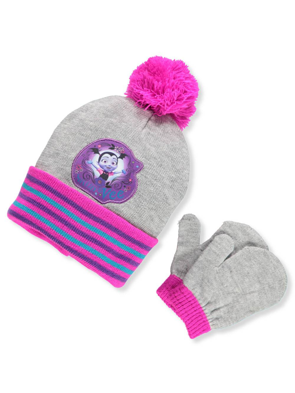 Disney Vampirina Girls' Beanie & Mittens Set (Toddler One Size)