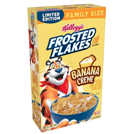 Frosted Frame - (2 pack) Kellogg's Frosted Flakes Cereal, Banana Creme, 24 Oz