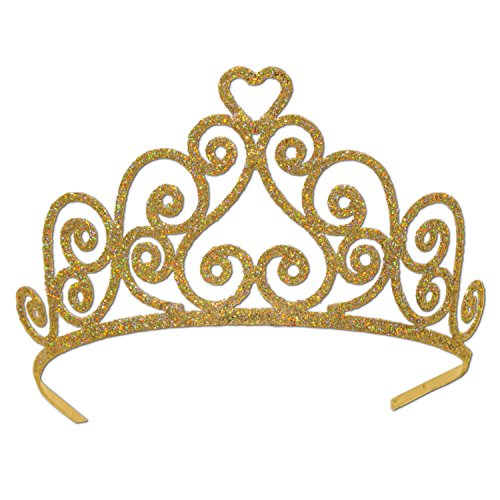 Beistle 60641-GD Gold Glittered Metal Tiara