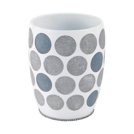 Avanti Linens Dotted Circles Wastebasket