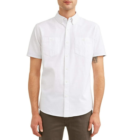 Lee Men's Solid Short Sleeve Button Down shirt, Available up to size