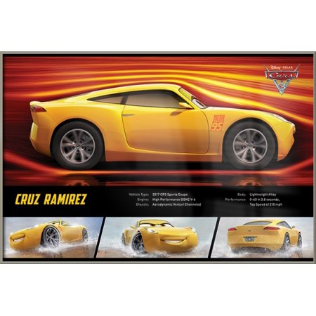 Cars 3 - Framed Disney / Pixar Movie Poster (Cruz Ramirez - Facts ...
