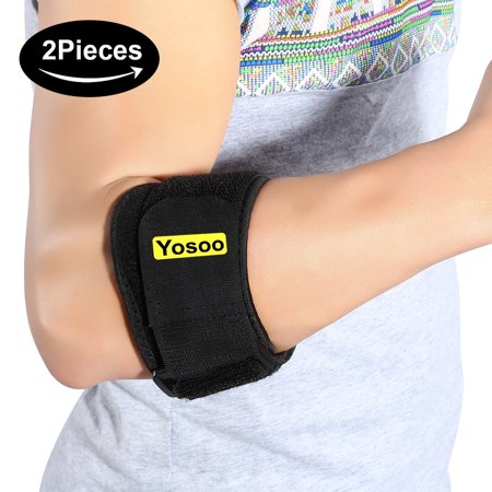 HURRISE Adjustable Elbow Support Brace for Golfer Tendonitis Muscle Tissue Joint Pain Relif with Compression Pads for Men Women