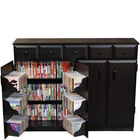 Top Load W/Drawers, 48-1/2 x 13 x 37-1/4, Black