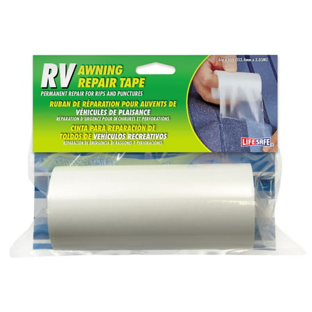 "Life Safe: RV Awning Tape 6"" x 10"