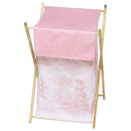 Baby and Kids Clothes Laundry Hamper - Pink French Toile, Dimensions: 26.5in. x 15.5in. x 16in. By Sweet Jojo Designs