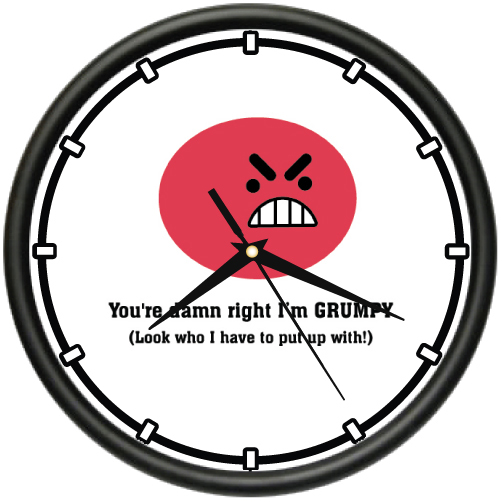 DON'T KNOW DON'T CARE Wall Clock funny attitude rude friend gift