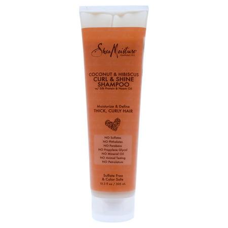 SheaMoisture Coconut and Hibiscus Curl and Shine Shampoo, 10.3 Oz