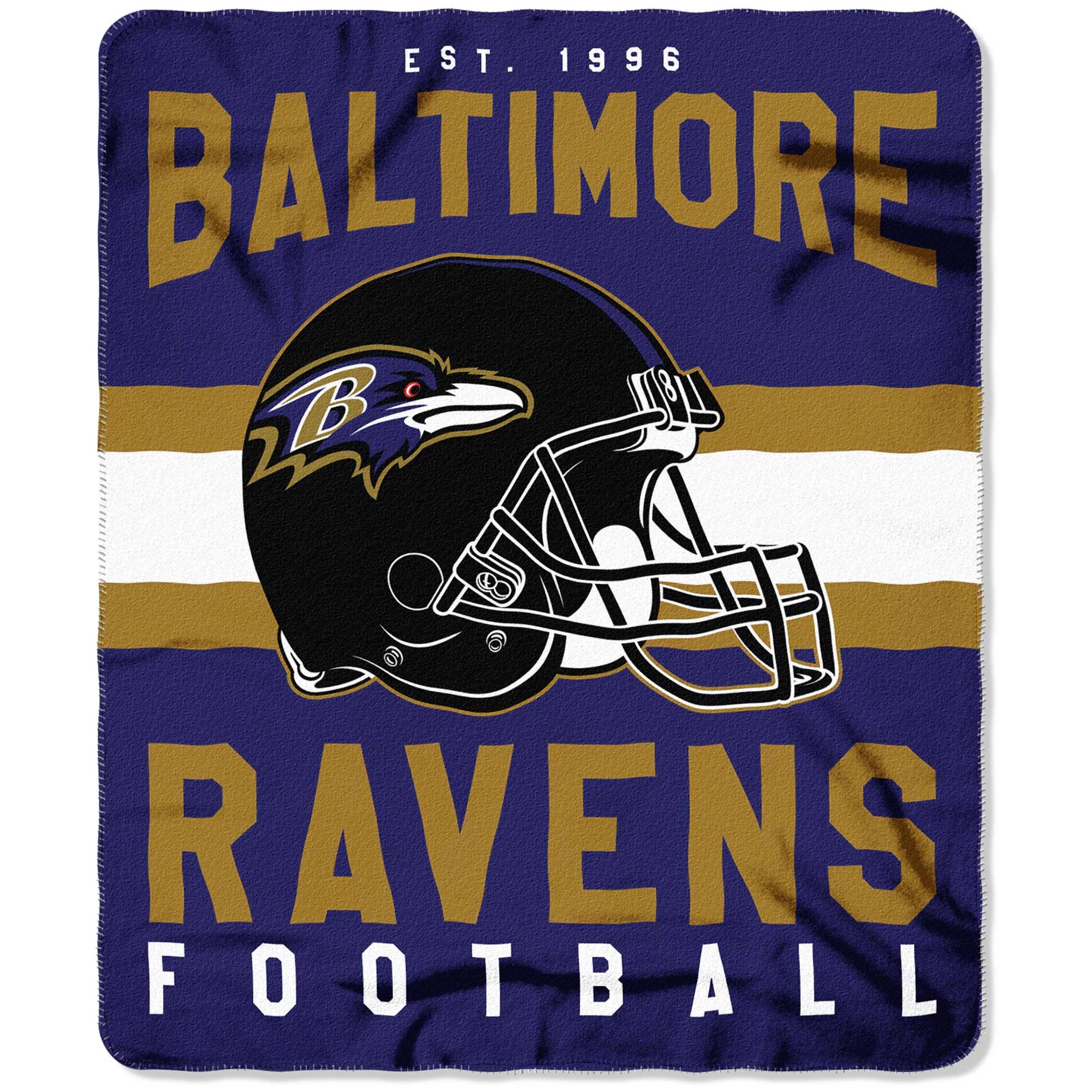 "NFL Baltimore Ravens ""Singular"" 50"" x 60"" Fleece Throw"