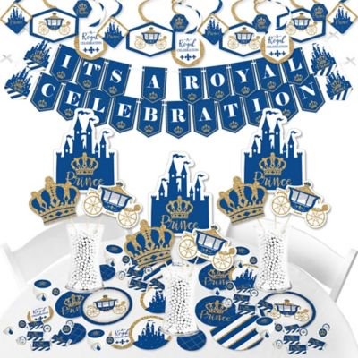Royal Prince Charming - Baby Shower or Birthday Party Supplies - Banner Decoration Kit - Fundle -