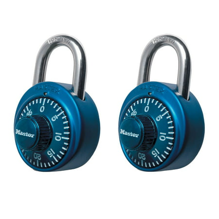 Master Lock Padlock 1530T Dial Combination Lock, 1-7/8 in. Wide, Assorted Colors, (Abus Combination Locks)