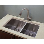 Empire Industries Everest ED3320 Double Bowl Undermount Stainless Steel Kitchen Sink
