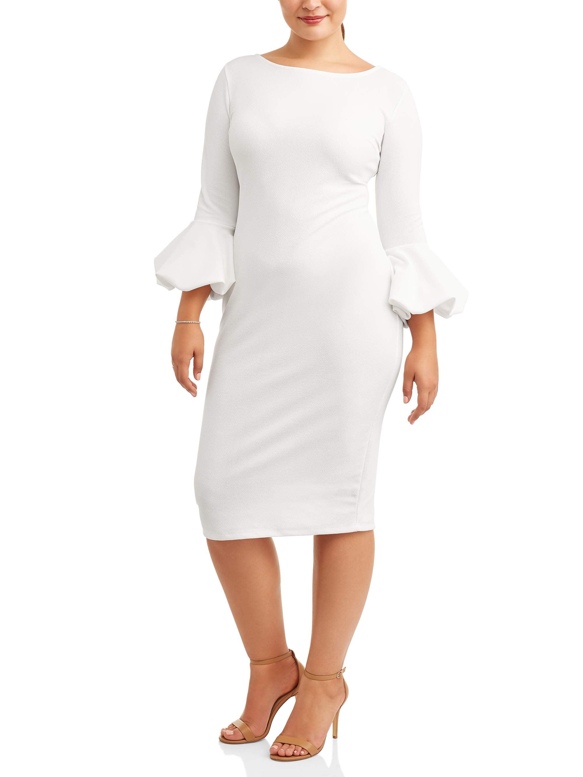 Women's Plus Size Bubble Sleeve Dress