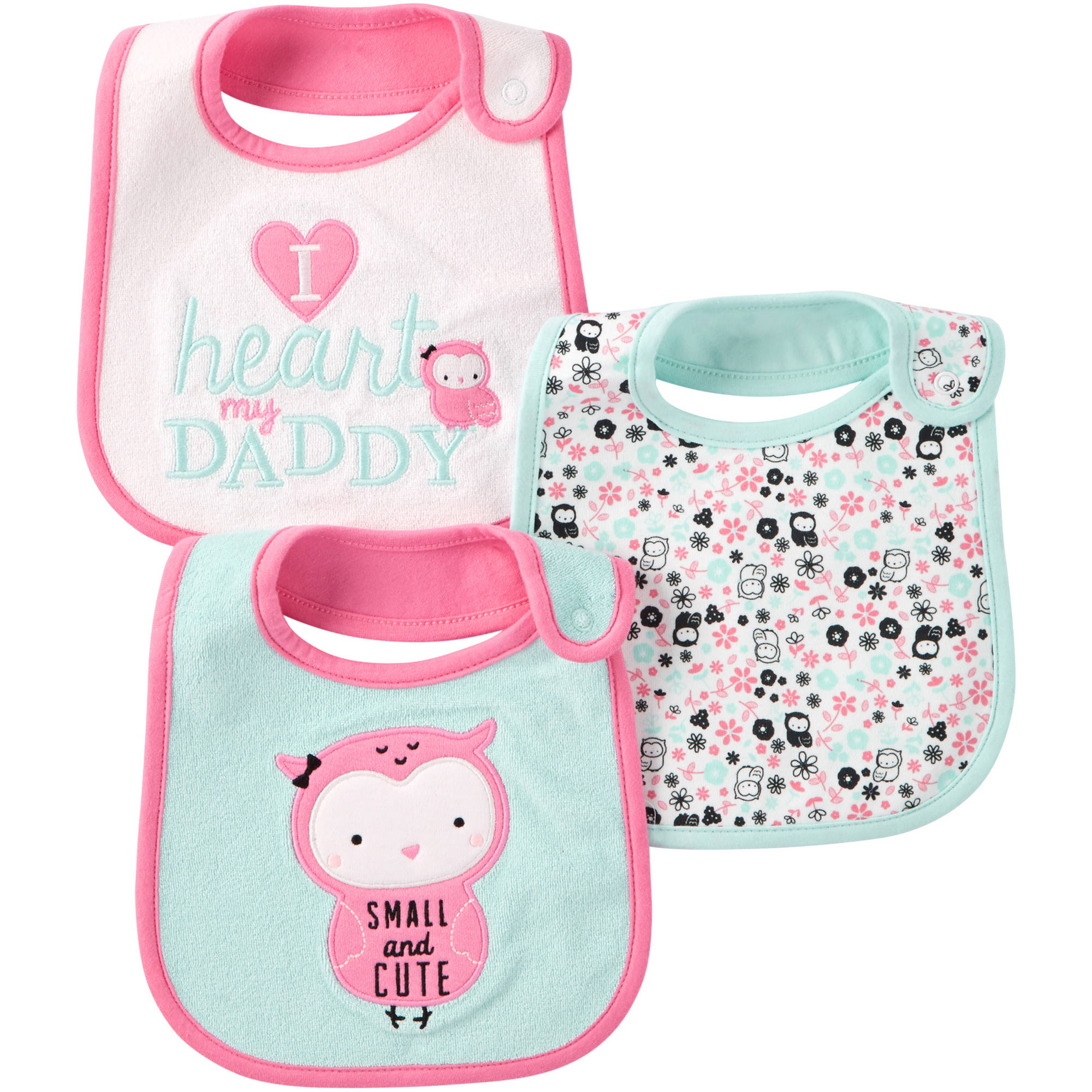 Child Of Mine by Carter's Newborn Baby Girl Bibs, 3-Pack