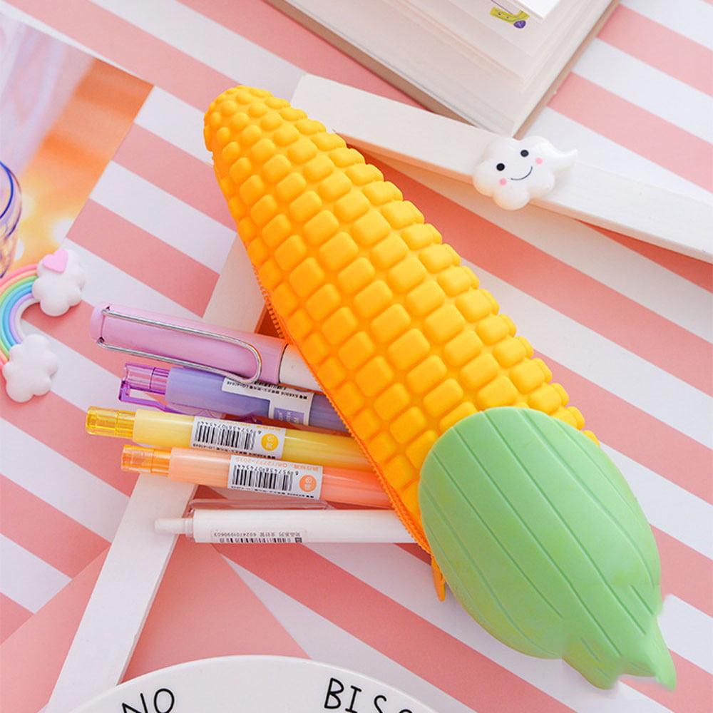 1pcs Silica Gel Pencil Case Corn Gift School Pencil Case Pencilcase Pencil Case