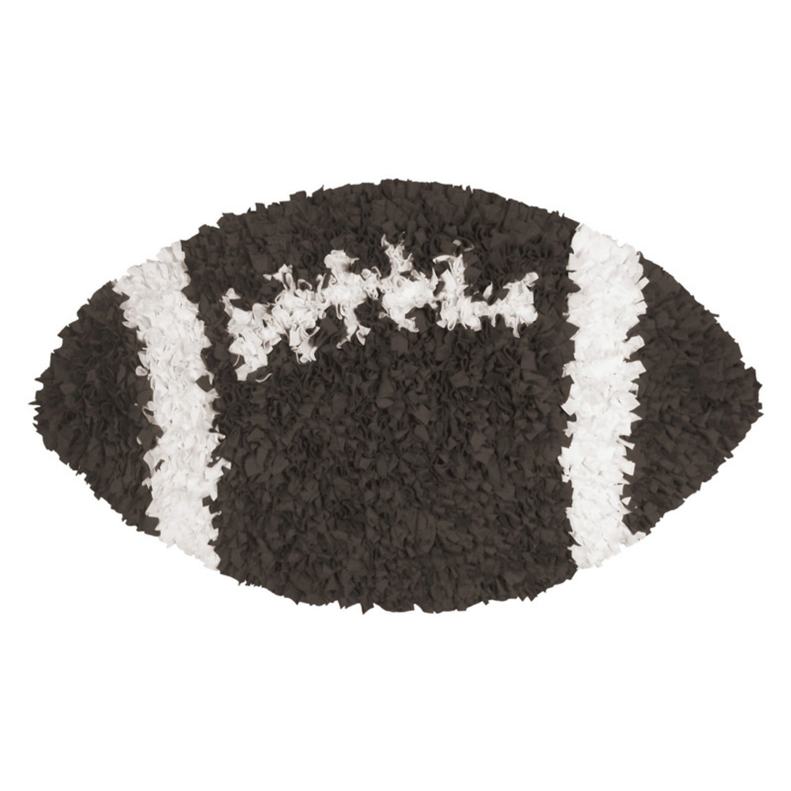 The Rug Market Shaggy Raggy Football Shaped Area Rug, Size 3' x 3'