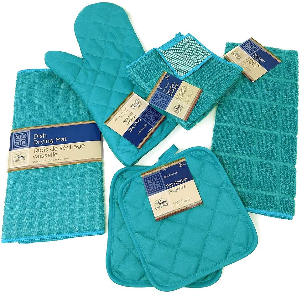 Home Collection Coffee Theme Kitchen Towel Set Live What You Love 2 Towels 2 Pot Holders 1 Oven Mitt