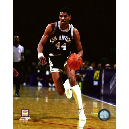 George Gervin 1982 Action Photo (1982 Photo Press)