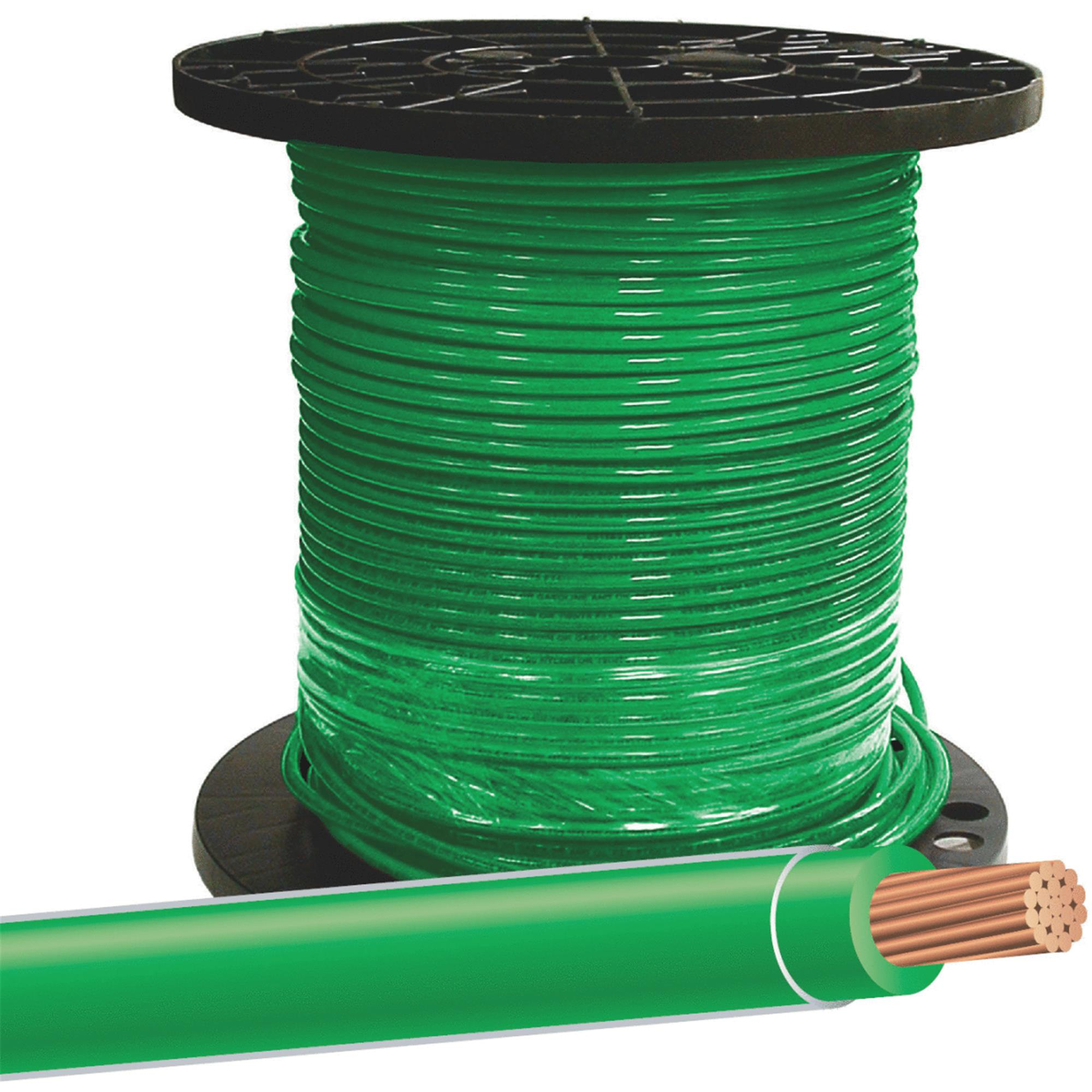 Building Wire,THHN,8 AWG,Green,500ft SOUTHWIRE COMPANY 20492512