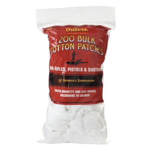 Outers Bulk Cotton Patches For Rifle/Shotgun/Pistol Approximately 200, 42380