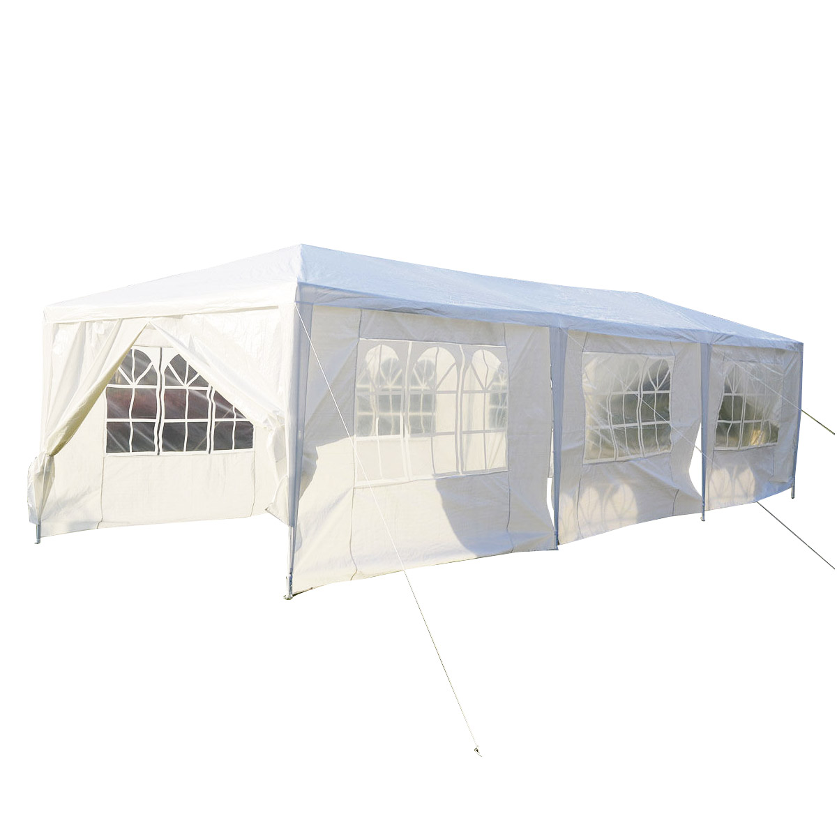 Gymax White Wedding Tent 10'x30'Outdoor Party Canopy Events - image 1 of 10
