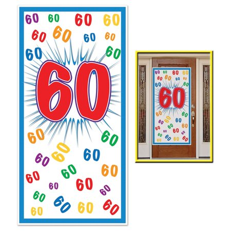 Club Pack Of 12 Birthday Themed 60 Door Cover Party Decorations 5