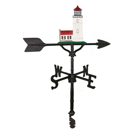 Color Cottage Lighthouse Weathervane - 32 in. (Lighthouse Cottage Weathervane)