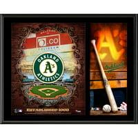 "Oakland Athletics Fanatics Authentic 12"" x 15"" Sublimated Team Logo Plaque - No Size"