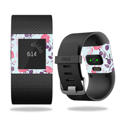 Skin Decal Wrap for Fitbit Surge cover skins sticker watch Vintage Floral