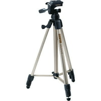 "Sunpak 620-060 Tripod with 3-Way Pan Head (Folded height: 20.3""; Extended height: 58.32""; Weight: 2.8lbs; Includes 2nd quick-release plate)"