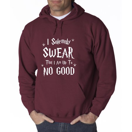 Trendy USA 1062 - Adult Hoodie I Solemnly Swear That I Am Up To No Good Sweatshirt 3XL Maroon