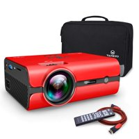 VANKYO Leisure 410 LED Projector with Carrying Bag and HDMI Cable, Portable Projector Supports 1080P, HDMI, USB, VGA, AV, SD Card, Compatible with Fire TV Stick, PS3/PS4, Xbox, Red