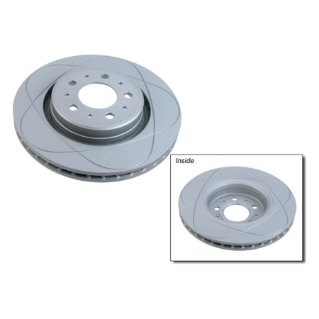 ATE Premium One Brake Disc, Gas Slotted & Coated