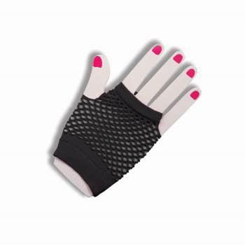 FISHNET FINGERLES GLOVE-SHT-BK](Fishnet Gloves)