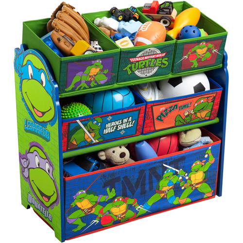 Delta Children Nickelodeon Teenage Mutant Ninja Turtles Multi-Bin Toy Organizer