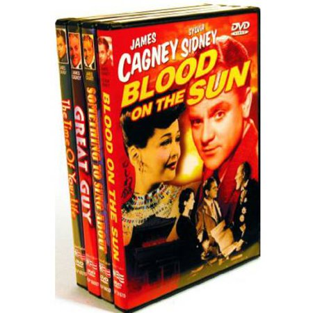 James Cagney Bundle Pack: Blood On Sun / Something To Sing About / Great Guy / Time Of Your Life A 4-DVD bundle pack of four exciting movies starring James Cagney.